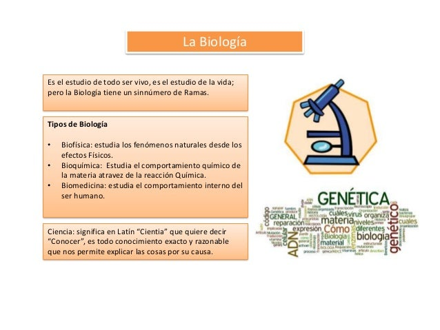 Biologia y Sus Ramas