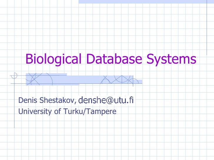 Biological Database Systems