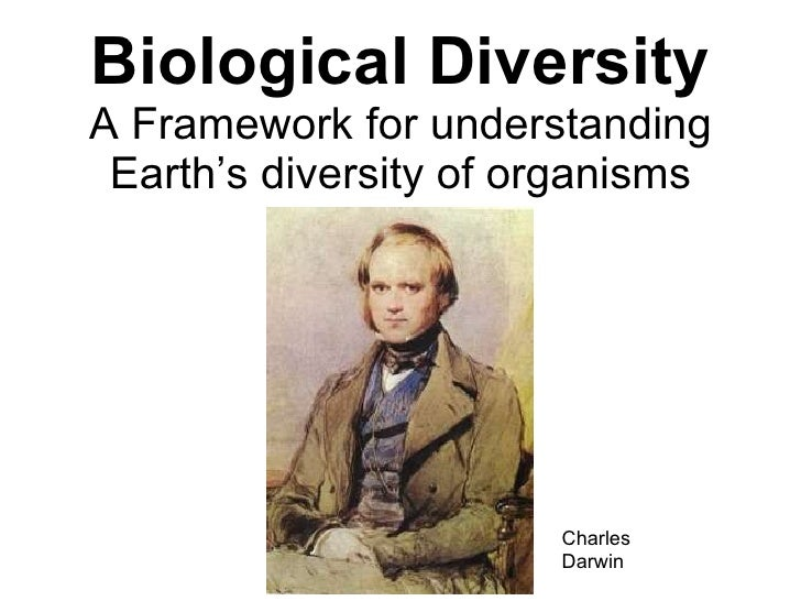 Biological Diversity A Framework for understanding Earth's diversity of organisms Charles Darwin