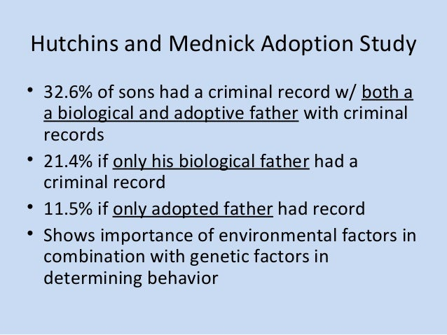 study shows criminal behavior may be linked to genetics 2012-12-7  transcript of criminals nature vs nurture nature's influence on criminal behavior genetics and criminal  is that criminal behavior is linked to both the.