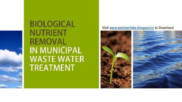 Biological Nutrient Removal (BNR)