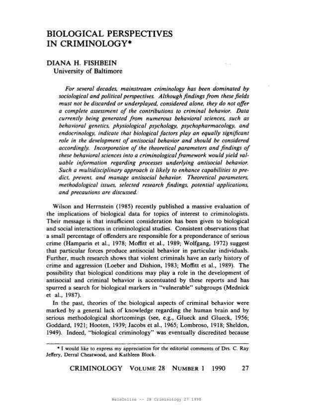 HeinOnline -- 28 Criminology 27 1990