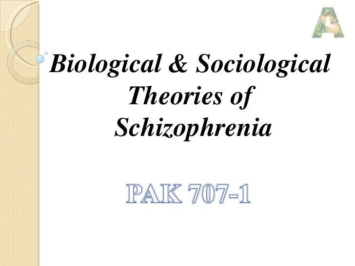 Biological & Sociological  Theories of  Schizophrenia