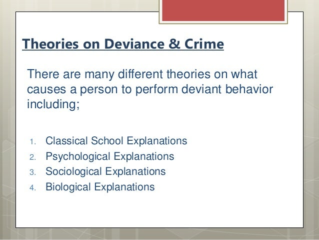biological theories and criminal behavior essay The study of criminological theory is an opportunity to analyze crime through explanations for the creation of criminals and criminal behavior each theory explains a reason for crime.