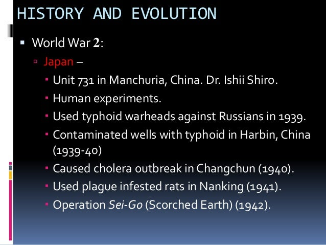 history biological warfare Biological and chemical weapons have gone out  history 10 historical biological and chemical  this method of biological warfare played the long game due to.
