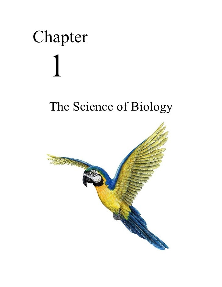 Biology - Chp 1 - The Science of Biology - Notes