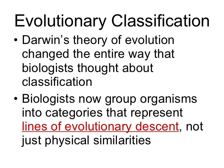 Biology - Chp 18 - Classification - PowerPoint