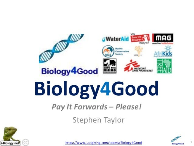 Biology4GoodPay It Forwards – Please!Stephen Taylor1https://www.justgiving.com/teams/Biology4Good