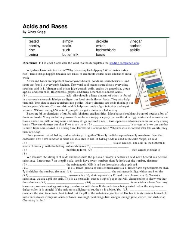 identifying acids and bases worksheet