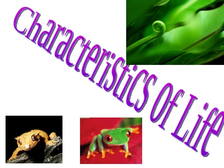 Biology characteristics of living things