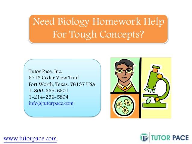 help with biology homework
