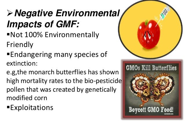 the consequences of genetically modified foods The debate around genetically modified where the way we interact with nature can cause a complex array of consequences being informed on the food we are.