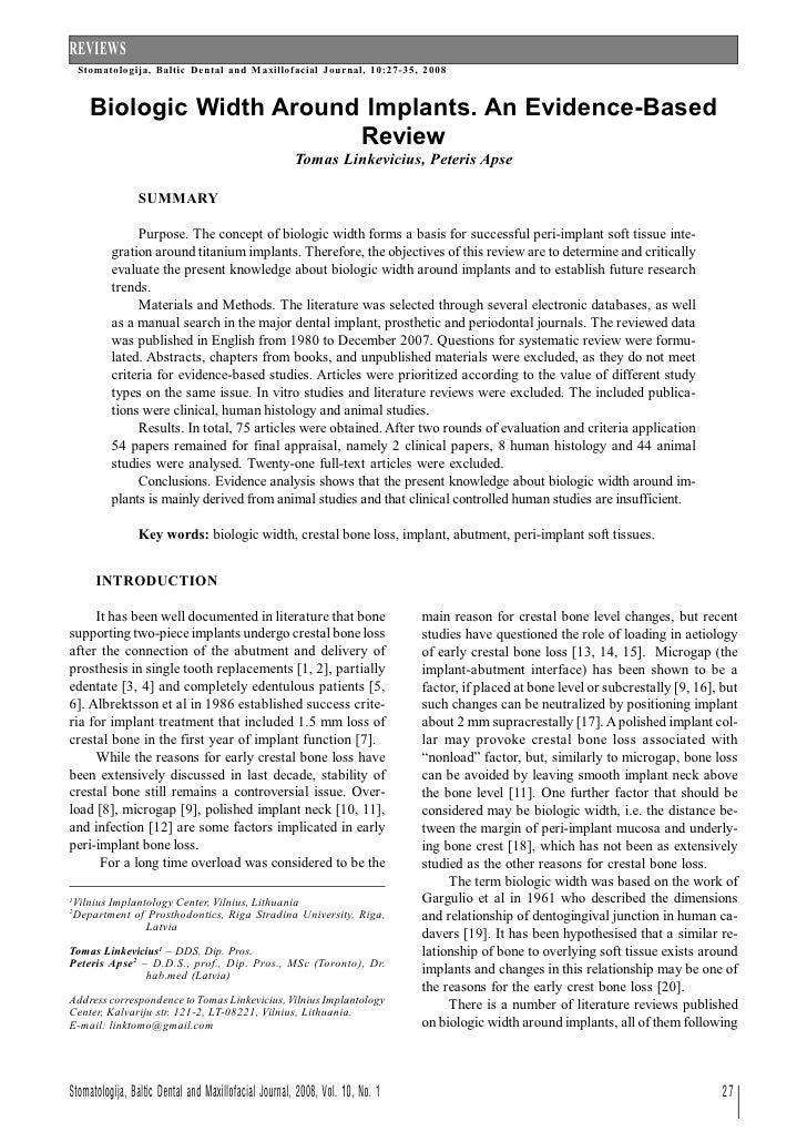 Biol width on impl review