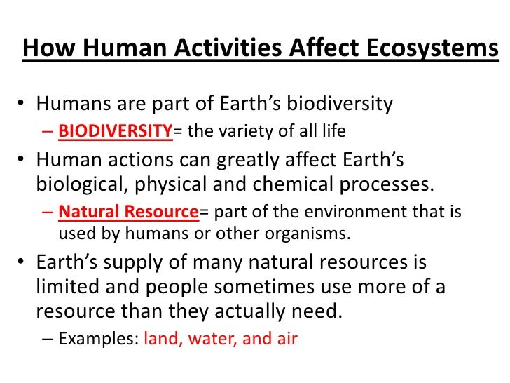 Water As A Natural Resource For Humans And Other Organisms