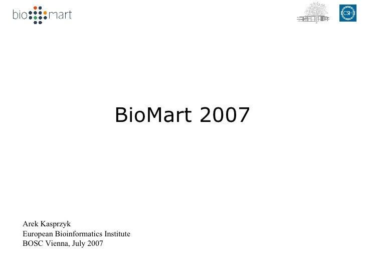 Biomart Update