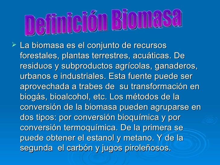Biomasa Joffre