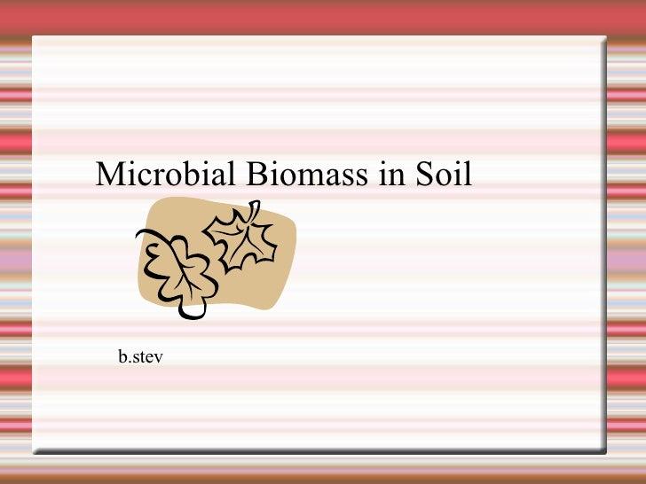 Microbial Biomass in Soil