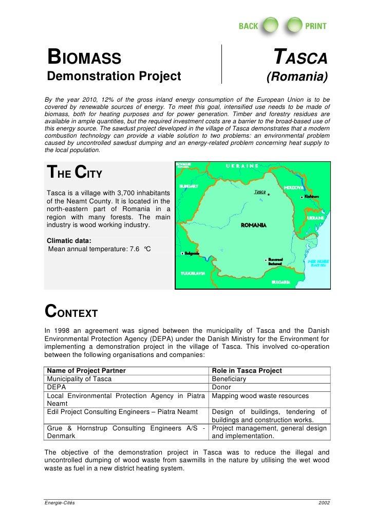 Biomass Demonstration Project Tasca