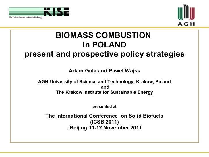 <ul><li>BIOMASS COMBUSTION  </li></ul><ul><li>in POLAND </li></ul><ul><li>present and prospective policy strategies </li><...