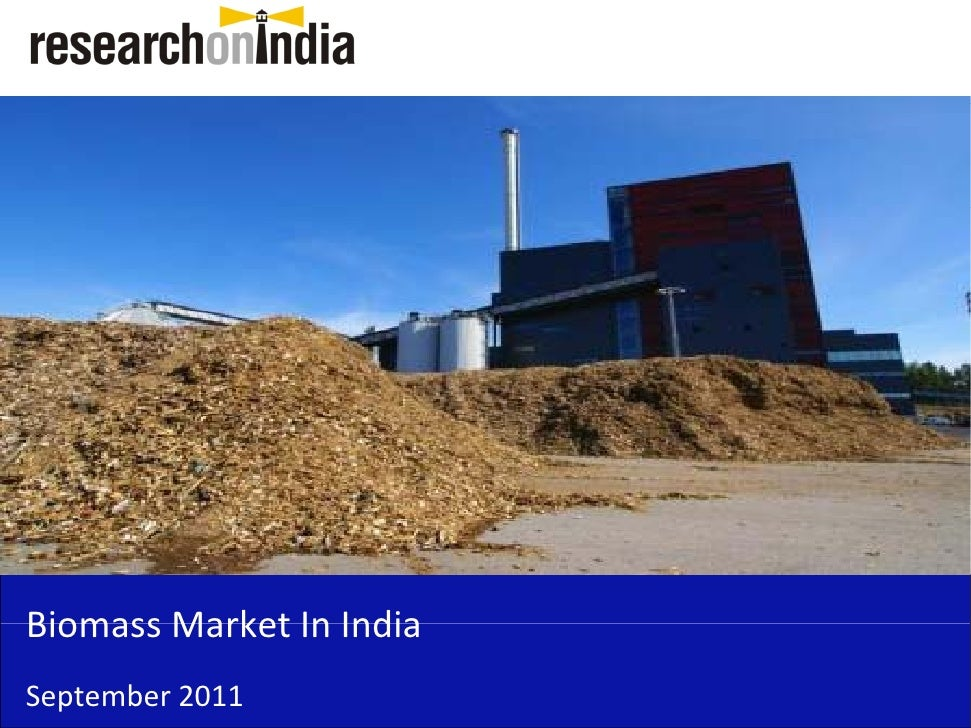 Market Research Report : Biomass Market in India 2011