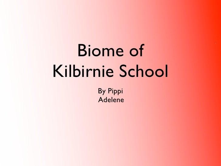 Biome of Kilbirnie School       By Pippi       Adelene