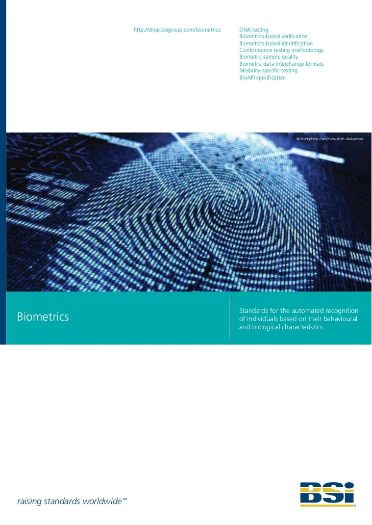 BSI Biometrics Standards Brochure