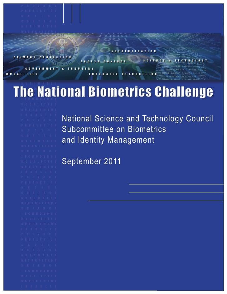 The National Biometrics Challenge (2011)
