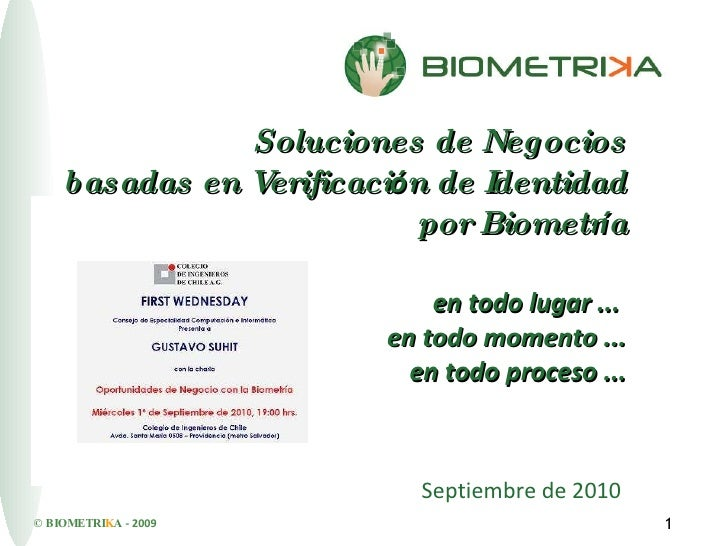 Biometrika First Wednesday 01/09/2010