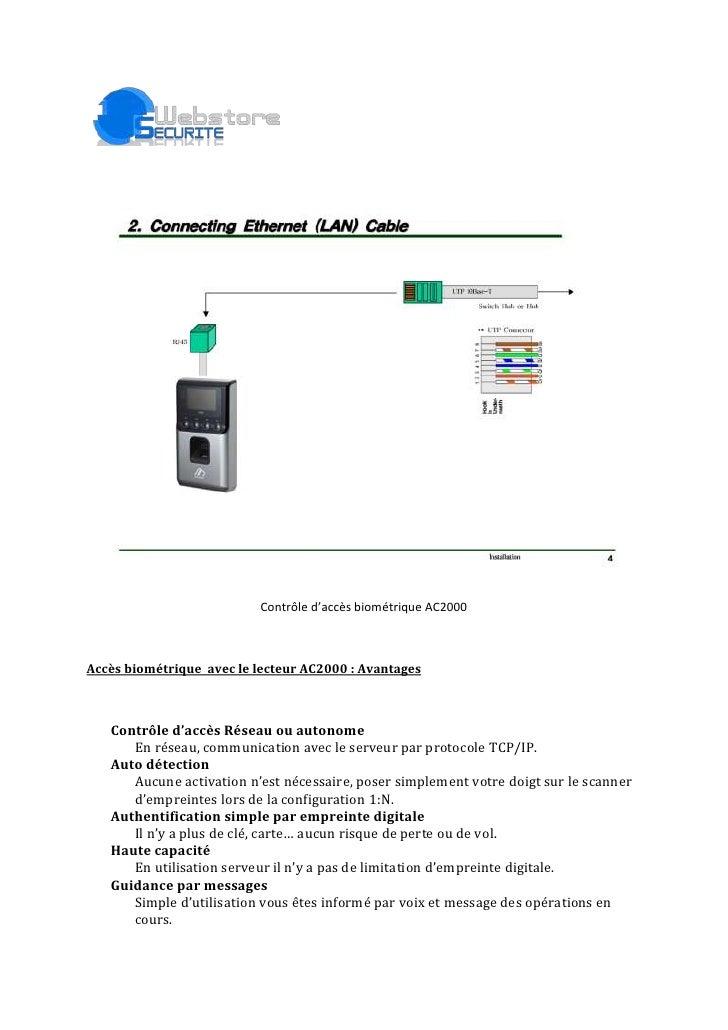 Contrôle d'accès biométrique AC2000<br />Accès biométrique avec le lecteur AC2000: Avantages<br />Contrôle d'accès Résea...