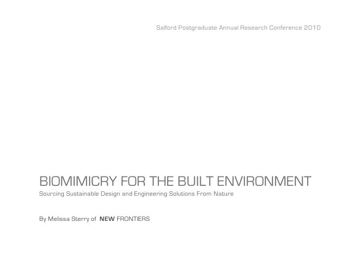Biomimicry in the Built Environment SPARC10