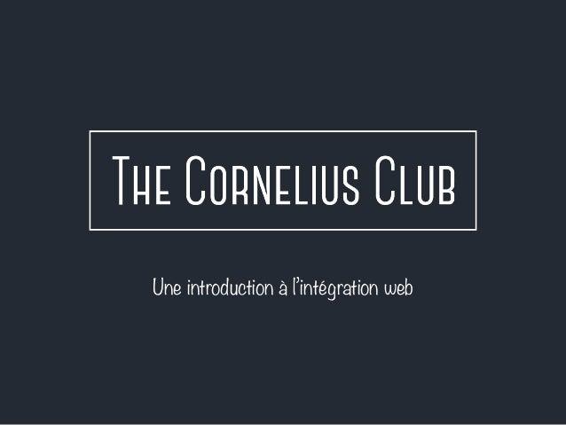 Une introduction à l'intégration web