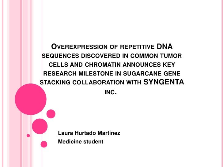 Overexpression of repetitive DNA sequences discovered in common tumor cells and chromatin announces key research milestone...