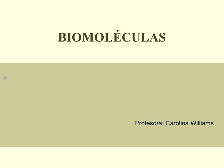 Biomoleculas enfermería
