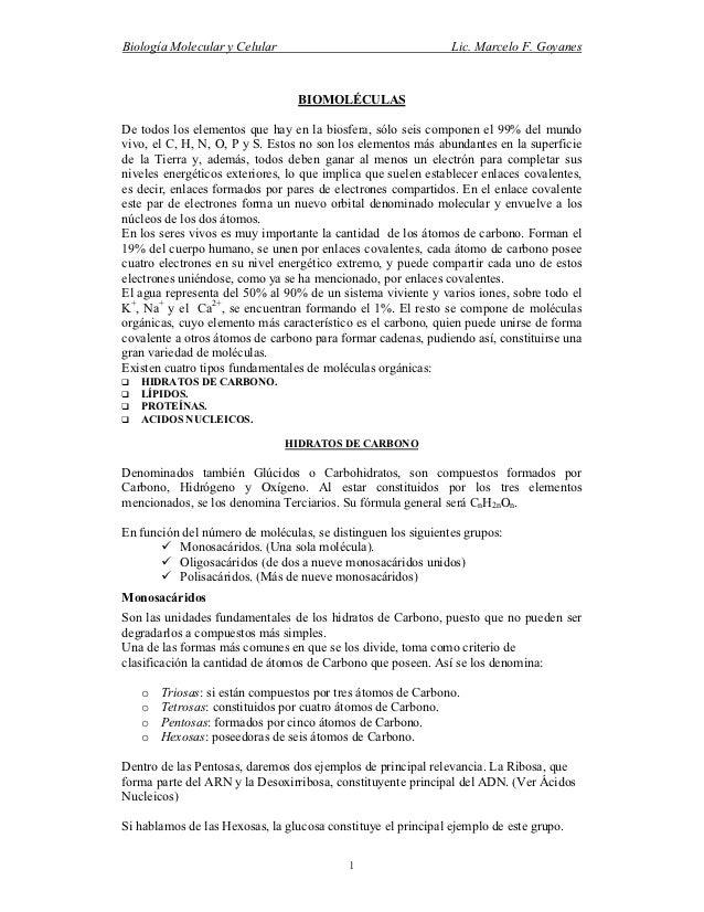Biología Molecular y Celular                                   Lic. Marcelo F. Goyanes                                 BIO...