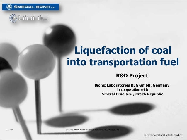 Bionic Carbon Liquefaction Through Microwave Hydration (CTL)