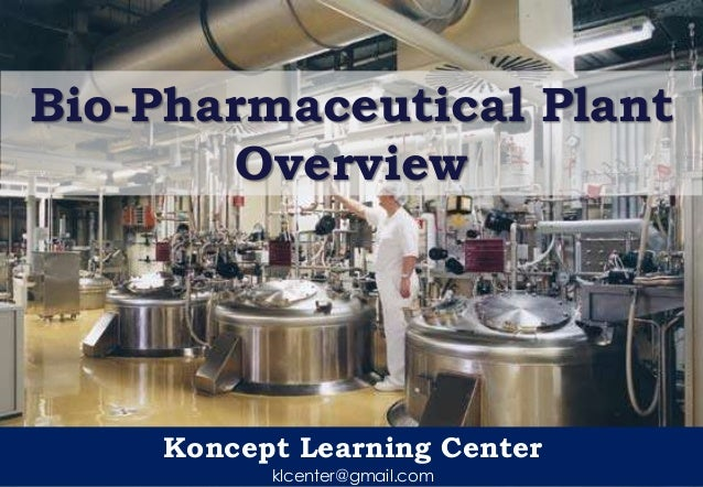 Koncept Learning Center klcenter@gmail.com Bio-Pharmaceutical Plant Overview