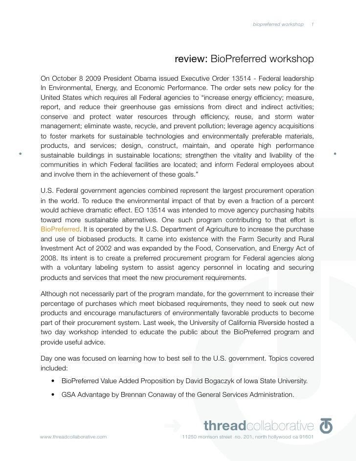 biopreferred workshop   1                                                  review: BioPreferred workshop On October 8 2009...