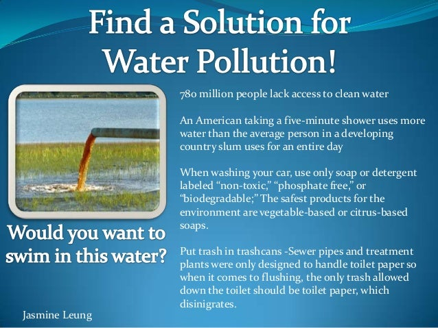 Find A Solution For Water Pollution