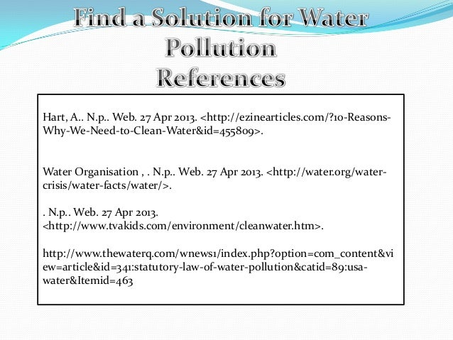 solution of water pollution essay