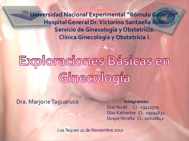 """Universidad Nacional Experimental """"Rómulo Gallegos"""".         Hospital General Dr. Victorino Santaella Ruiz.              S..."""