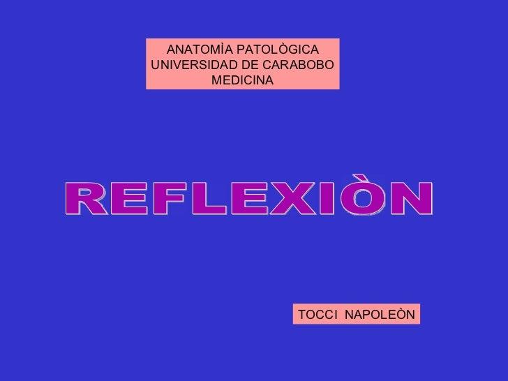 ANATOMÌA PATOLÒGICAUNIVERSIDAD DE CARABOBO        MEDICINA                  TOCCI NAPOLEÒN
