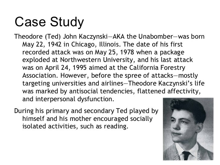 Case Study : The Unabomber by on Prezi