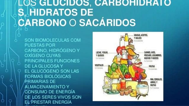 LOS GLÚCIDOS, CARBOHIDRATO S, HIDRATOS DE CARBONO O SACÁRIDOS SON BIOMOLECULAS COM PUESTAS POR CARBONO, HIDRÓGENO Y OXÍGEN...