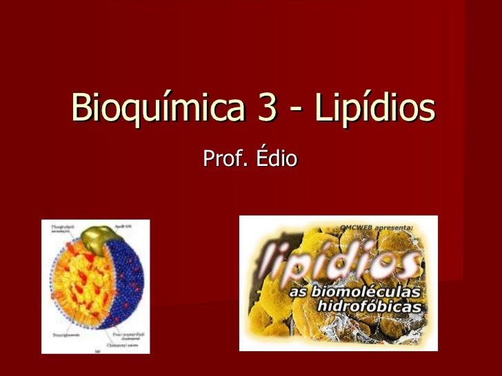 Bioquímica 3 - Lipídios Prof. Édio