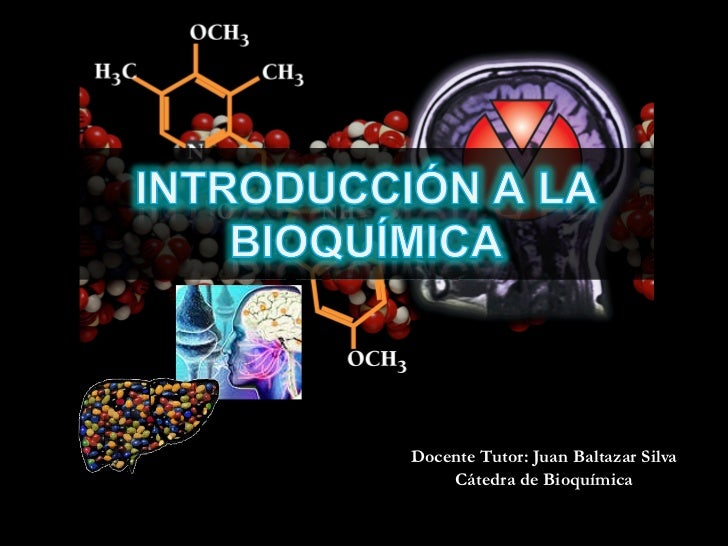 Docente Tutor: Juan Baltazar Silva Cátedra de Bioquímica