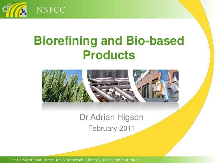NNFCC             Biorefining and Bio-based                      Products                                     Dr Adrian Hi...