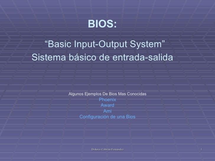 Bios Curso Fpo