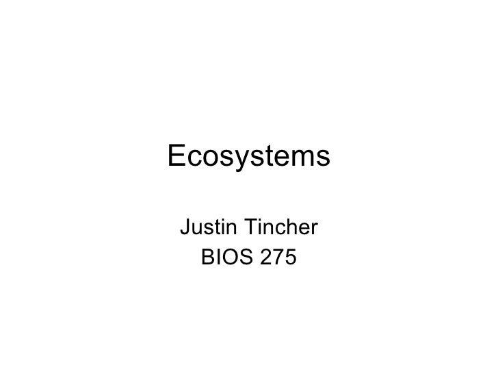 Ecosystems Justin Tincher BIOS 275