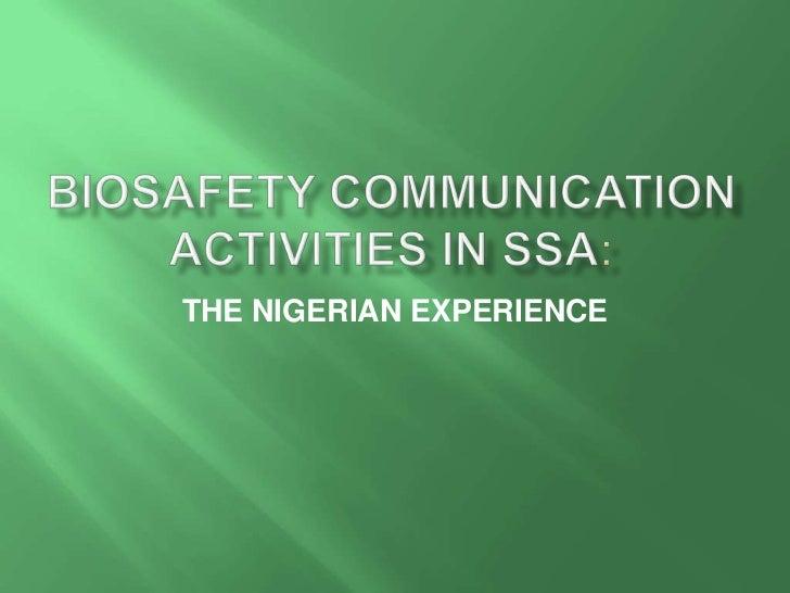 Biosafety communication nigerian-exp[1]