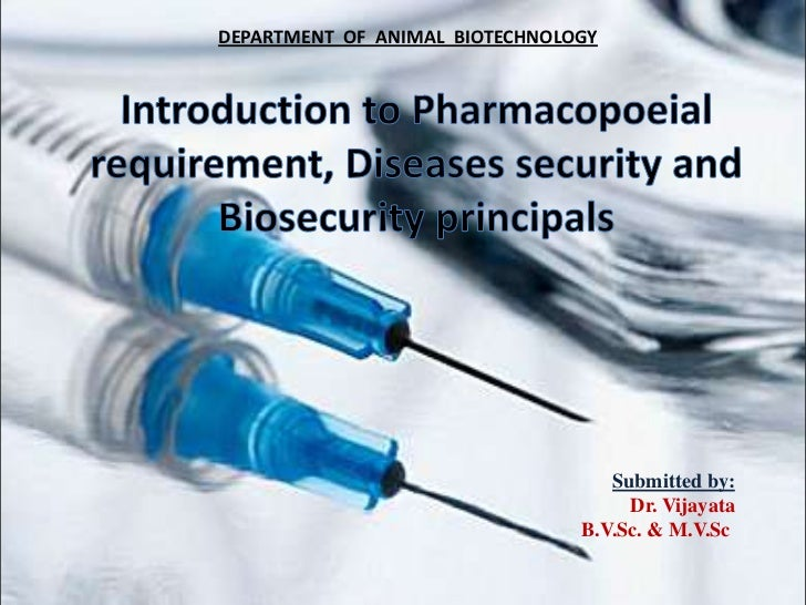 DEPARTMENT OF ANIMAL BIOTECHNOLOGY                                   Submitted by:                                     Dr....